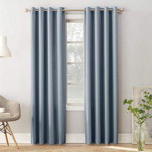 Sun Zero Vintage Blue Grommet Curtain Panel